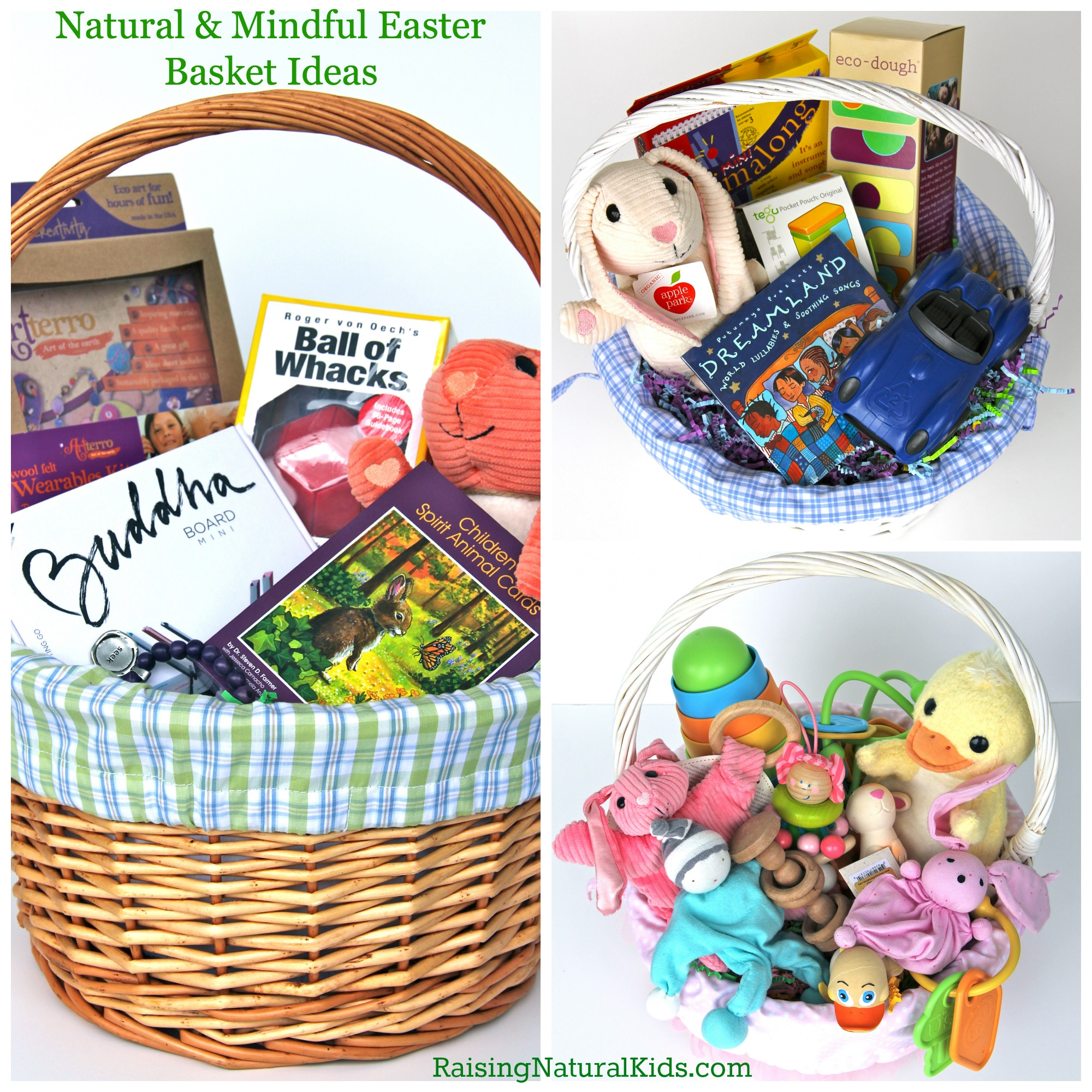 Natural and eco friendly easter ideas the easter baskets easterbasketcollage negle Images