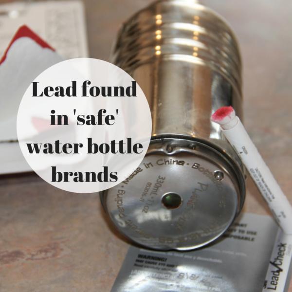 Lead in Water Bottles