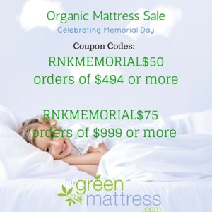Memorial Day Organic Mattress Sale