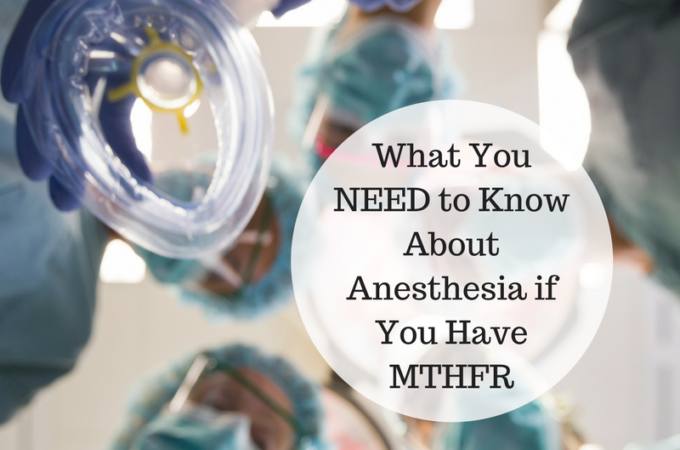 MTHFR and anesthesia